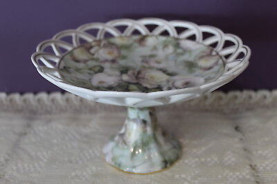 Skye Mcghie 'antique Rose' Fine Porcelain Compote With Lace Edge