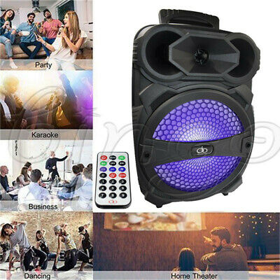 BT Party Speaker System Bluetooth Big Led Portable Stereo Tailgate Loud FM 100W