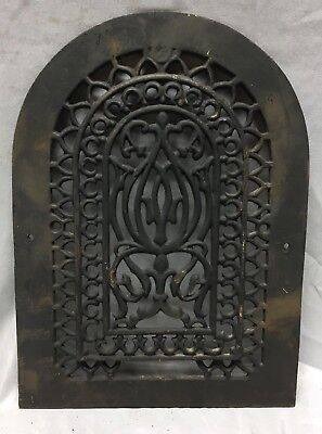 One Antique Arched Top Heat Grate Grill Gothic Decorative Arch 10X14 656-18C