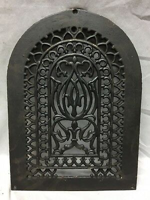 One Antique Arched Top Heat Grate Grill Gothic Decorative Arch 10X14 657-18C