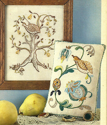 Partridge Set Embroidery Picture & Pincushion Design charts from magazine 2 patt