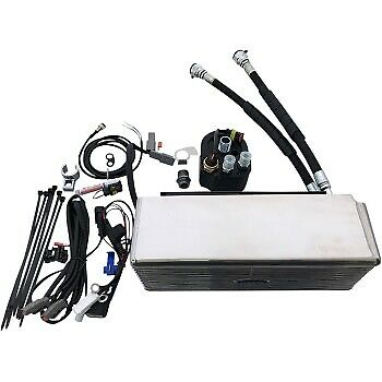 UltraCool DY-1SS Stainless Steel Oil Cooler Kit 99-17 Harley-Davidson FXD FXDWG