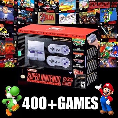 Super Nintendo SNES Classic Edition Mini System MODDED 400+ Games FAST SHIPPING!