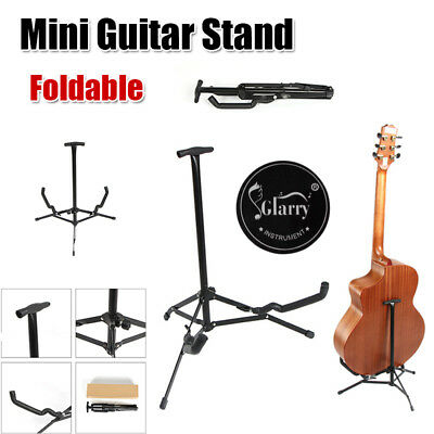 Portable Folding Electric Acoustic Bass Guitar Stand Floor Storage Rack Holder