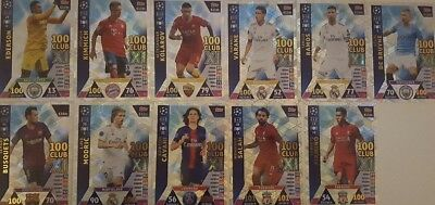 Match Attax Champions League 18 19 limited edition Club 100 Hattrick Hero Man of