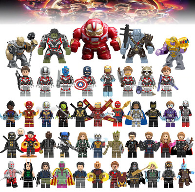 50 Super Heroes X-man Avenger Minifigures Marvel DC Comics Building Stock LEGO
