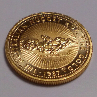 1/4 oz Gold Nugget 1987 - 25 Dollar Australien - Goldmünze 999,9