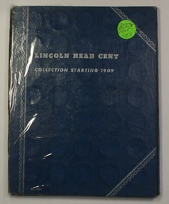1909-1945 Lincoln Wheat Cents Whitman Coin Album 9004 Complete Except 1909-S VDB
