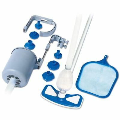 Deluxe Swimming Paddling Pool Hot Tub Cleaning Vacuum Skimmer Maintenance Kit
