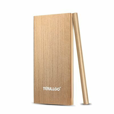 ToullGo External Rechargeable Portable Power Bank,SlimLine Charger 10000mAh Gold