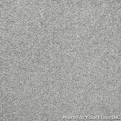 Cloudy Grey Liberty Heathers Twist Carpet Cheap Flecked Bedroom Felt Backing 4m