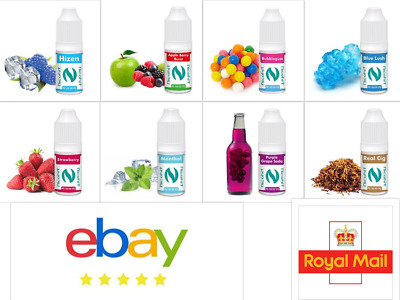 10x10ml | 5x10ml Nicohit E-Liquid Vape Juice E Liquid 24 Flavours  3 6 12 18 mg