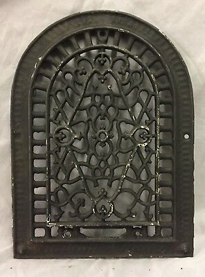 One Antique Arched Top Heat Grate Grill Decorative Arch 10X14 664-18C