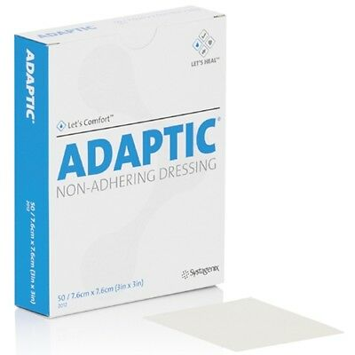 "24 PACK! ADAPTIC Non-Adhering Dressing Gauze Systagenix 3"" x 8"" Box *FREE S&H*"