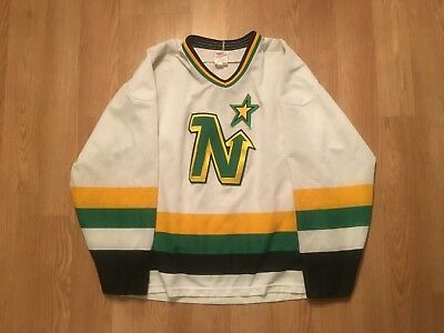 finest selection 72792 16ca2 RARE MINNESOTA NORTH Stars White CCM Replica Jersey Size X-Large
