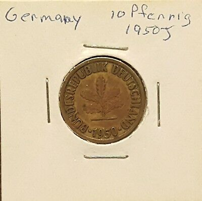 1950J Germany 10 Pfennig