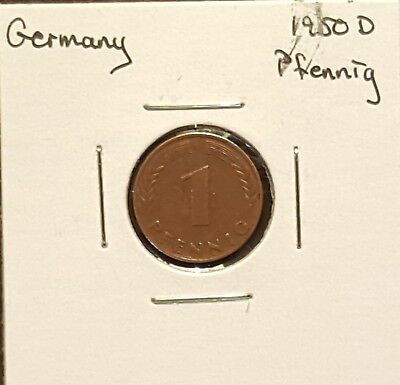 1950D Germany Pfennig