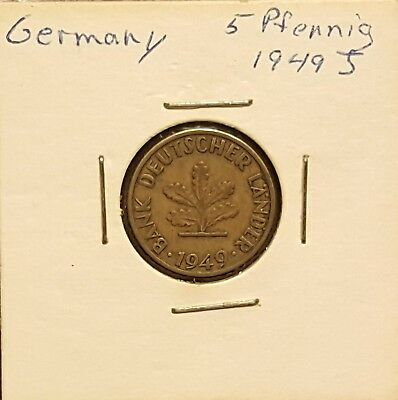 1949J Germany 5 Pfennig