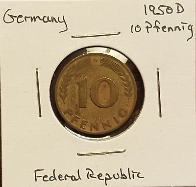 1950D Germany 10 Pfennig