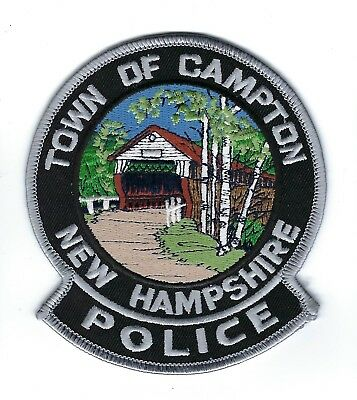 Campton (Grafton County) NH New Hampshire Police Dept. patch - *COVERED BRIDGE*