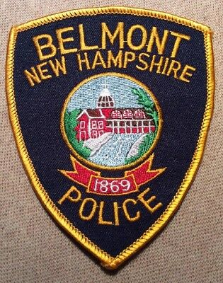 NH Belmont New Hampshire Police Patch
