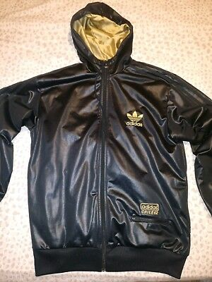 adidas chile 62 black gold shiny track top tracksuit bottoms