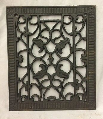 Antique Rectangular Heat Grate Grill Decorative Old 10X12 675-18C