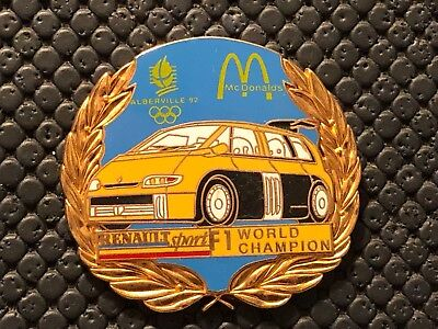 Pins Pin's Albertville Jo Olympic 1992 Noc  Renault Sport F1 Mc Donald
