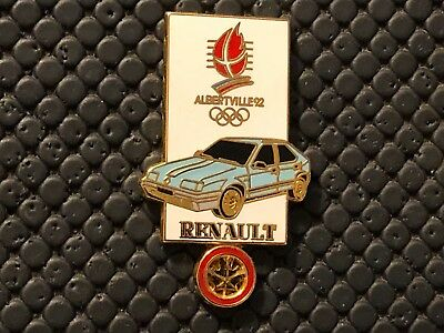 Pins Pin's Albertville Jo Olympic 1992 Noc  Renault 19 Version Dore