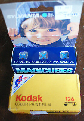 Sealed Expired Kodak Kodacolor VR 126 24 Exposure Film and Box of Magiccubes