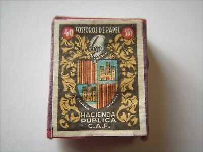 """Box of Foreign Wooden Matches - SPAIN - Box Meas. 1-1/4"""" x 1-5/8"""" x 5/8"""" - 19Pcs"""