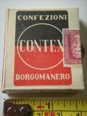 """Box of Foreign Wooden Matches - ITALY - Full Box 1-3/4"""" x 2"""" x 1/2"""" - Unopened"""
