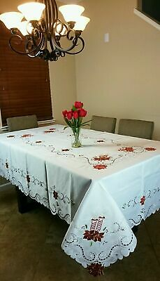 """100% Cotton Beige Color Handmade Crochet Lace 15x33"""" Table Runner Placemat Oval"""
