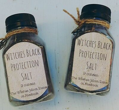Witches Black Protecion Salt Wiccan Pagan Banish Magic Ritual Spell