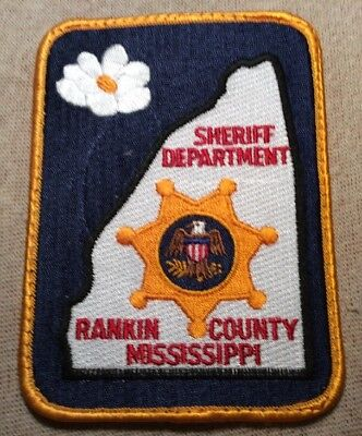MS Rankin County Mississippi Sheriff Patch