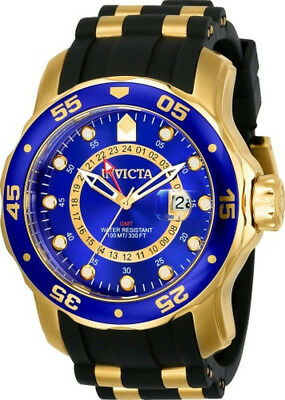 Invicta Pro Diver 6993 Men's Round Analog Date Gold Tone Blue Watch