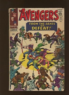 Avengers 24 FN 6.0 * 1 Book * From the Ashes of Defeat by Stan Lee & Don Heck!