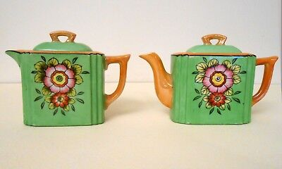 Vintage Japanese Teapot, Coffee Pot & Tray Set- COLLECTABLE DIME STORE KITSCH