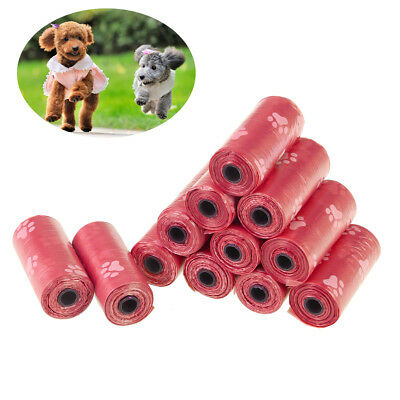 12 Rolls Degradable Pet Waste Poop Bags Dog Cat Clean Up Refill Garbage bag