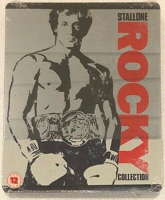 The Rocky Collection (1 - 6) Steelbook - UK Exclusive Limited Edition Blu-Ray