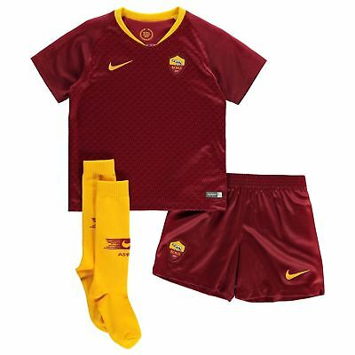20c95432011 Nike AS Roma Home Mini Kit 2018 2019 Infants Red/Gold Football Soccer Strip
