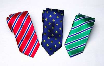3 Italian Classic Bundle Tie 8cm Necktie Standard Wide Top Boss Fashion