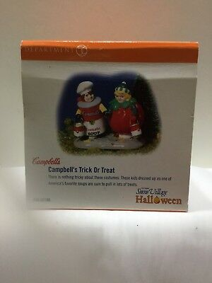 "Dept 56 Snow Village Halloween "" Campbell's Trick or Treat"""