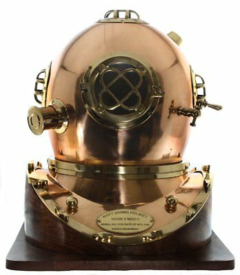 "Full-Size Replica US Navy Mark V Brass Diving Helmet "" CHRISTMAS GIFT"""
