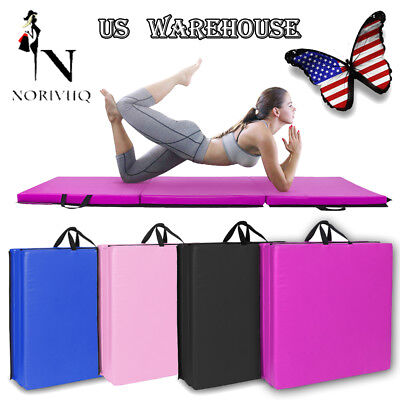 Mat Hand Buckle Gymnastics Yoga  Mat Gym Fitness Workout Exercise Pad Thick US