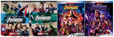 New The Avengers Age of Ultron Infinity War Movie Trilogy Blu-ray & Digital Copy