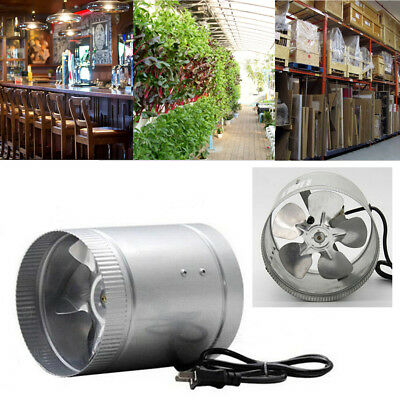 4'' Inch Inline Duct Fan Booster Exhaust Blower Air Cooling Vent Metal Blade New