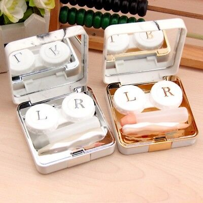 Outdoor Travel Contact Lens Case Mini Storage Holder Case Mirror Box Container