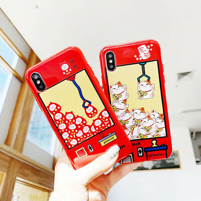 Lucky Cat Lucky Pig Candy TPU Phone Case Cover Back For iPhone 6 7 8 Plus XS Max