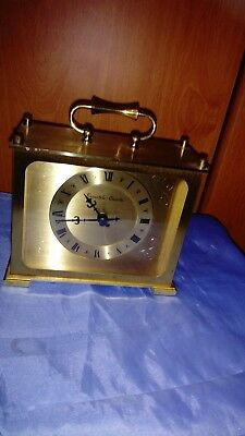A Solid Brass Carriage Clock By Eurostyle